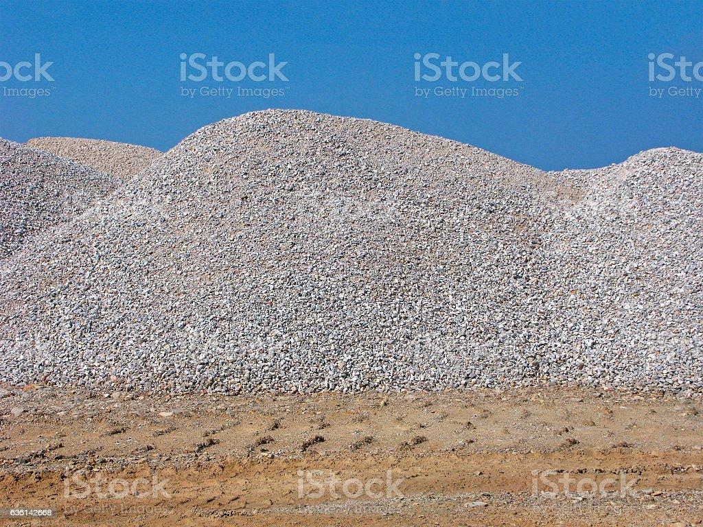 Heaps of gravel stock photo