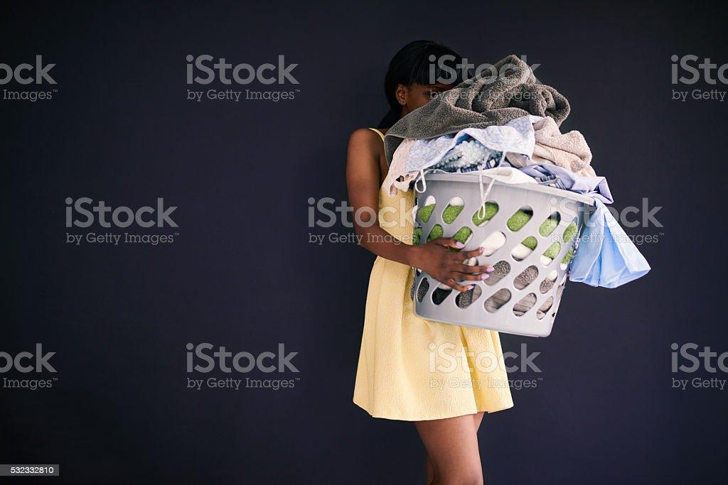 Heaps of laundry stock photo