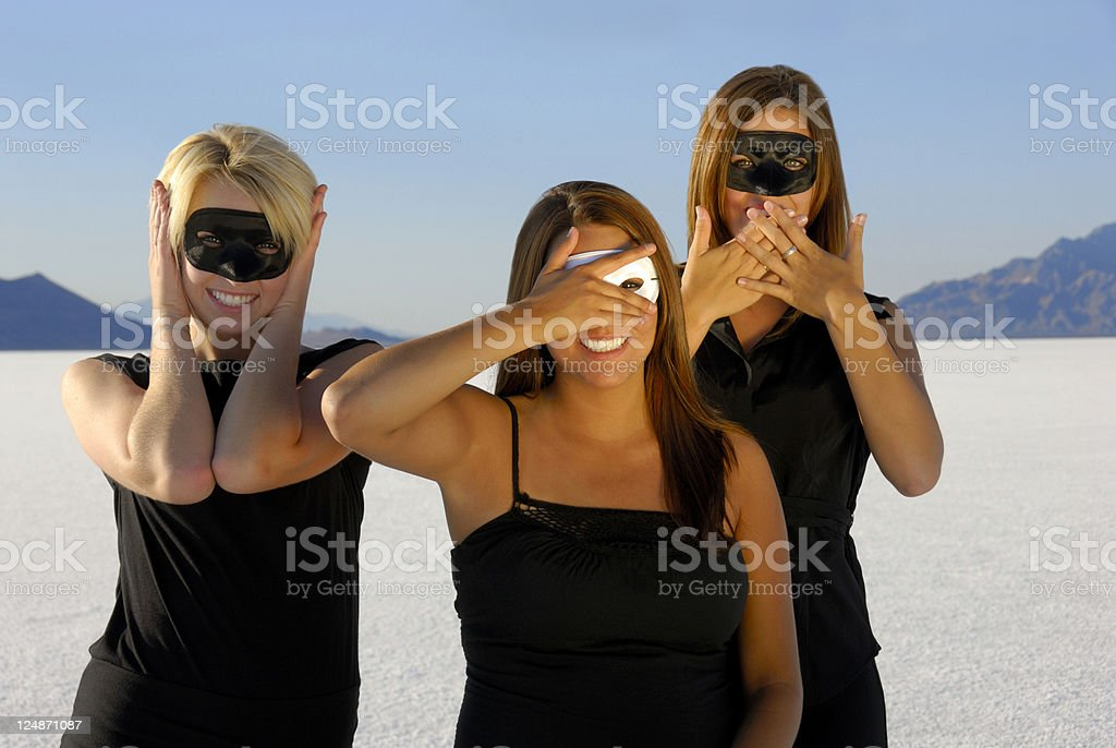Hear, See, and Speak No Evil royalty-free stock photo
