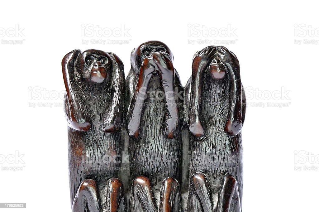 Hear speak see no evil royalty-free stock photo