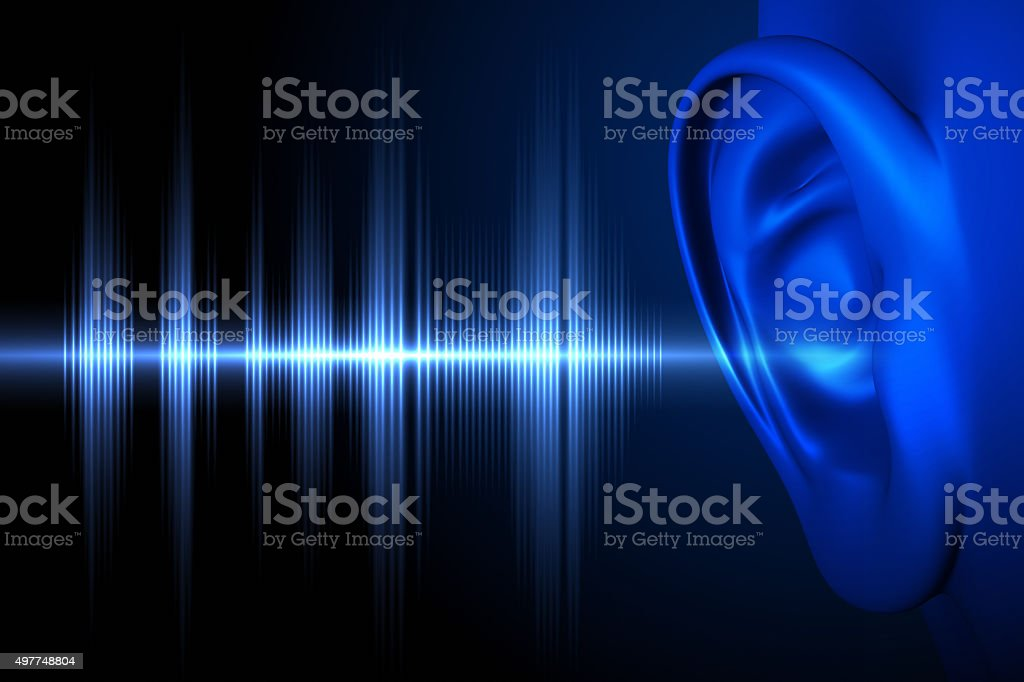 Hear the sound wave stock photo