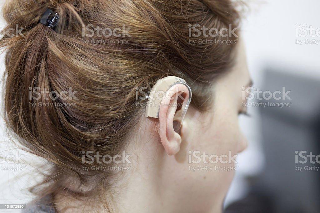 hearing aid stock photo
