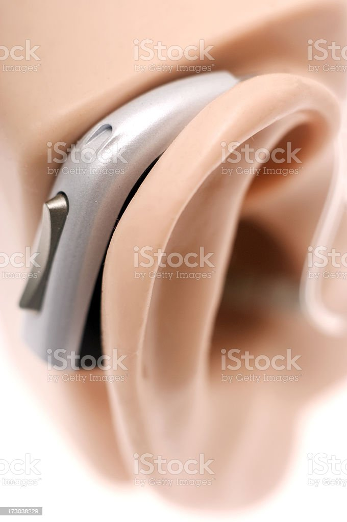 Hearing aid royalty-free stock photo