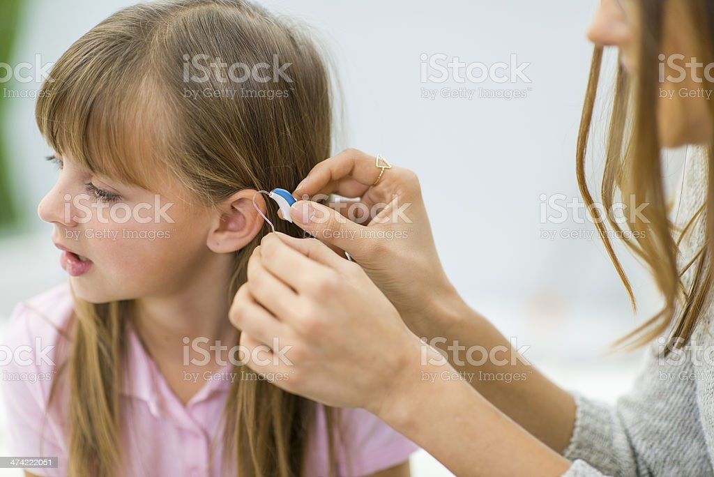 Hearing Aid stock photo
