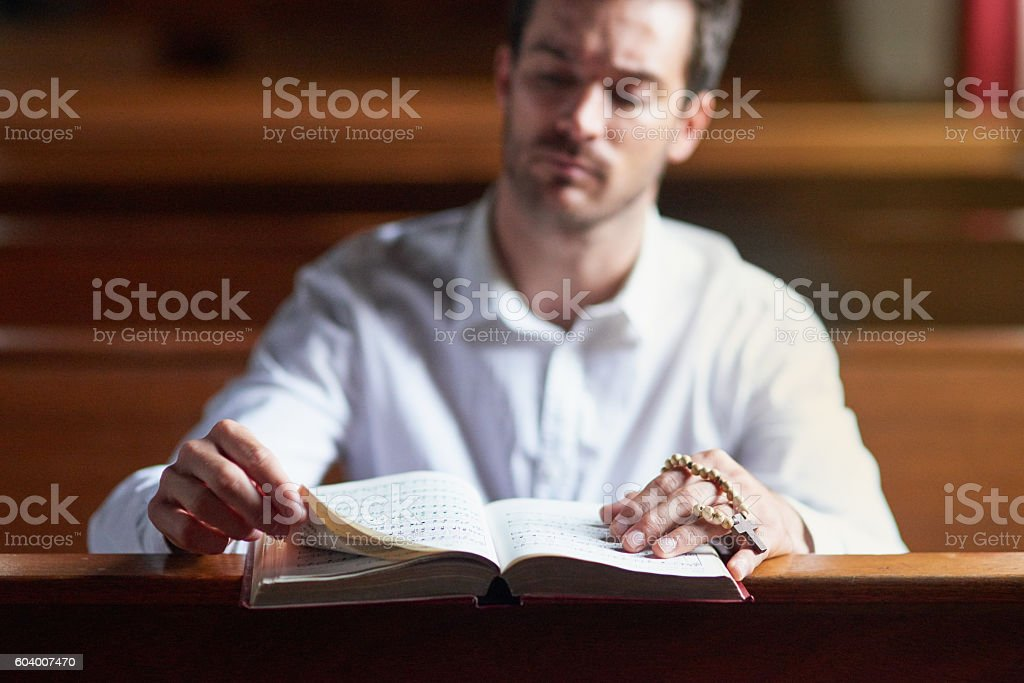 Hearing God's voice through his verse stock photo