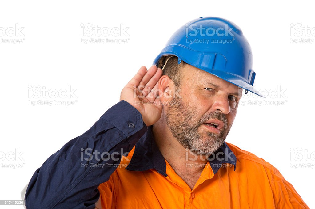 Hearing Loss stock photo