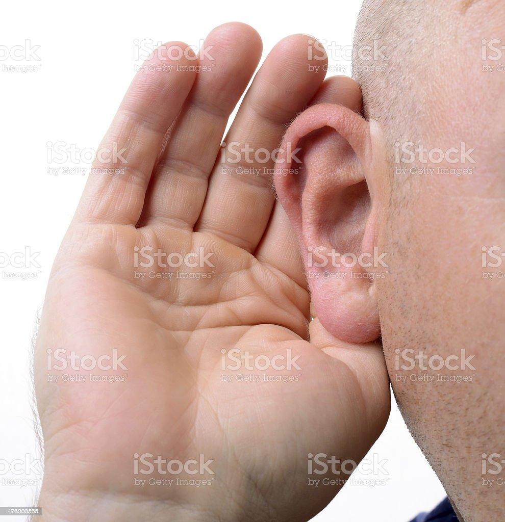 hearing royalty-free stock photo
