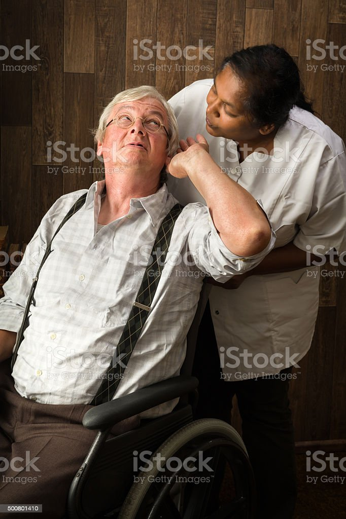 Hearing problems stock photo