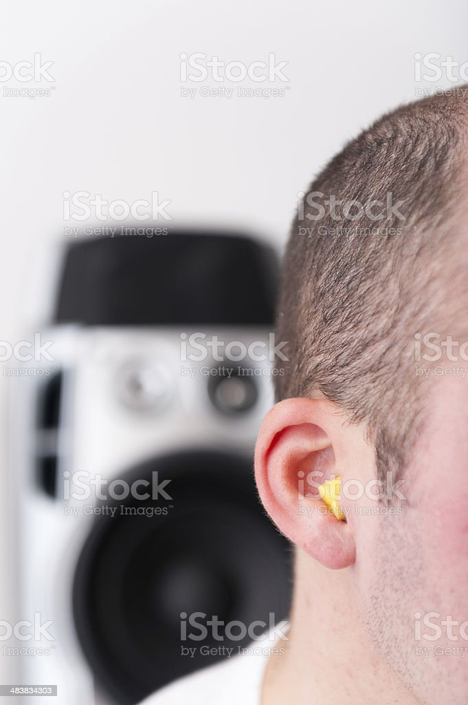 Hearing Protection stock photo