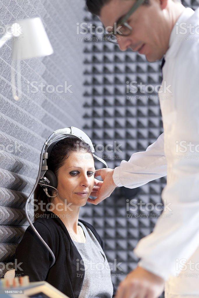 Hearing Test stock photo