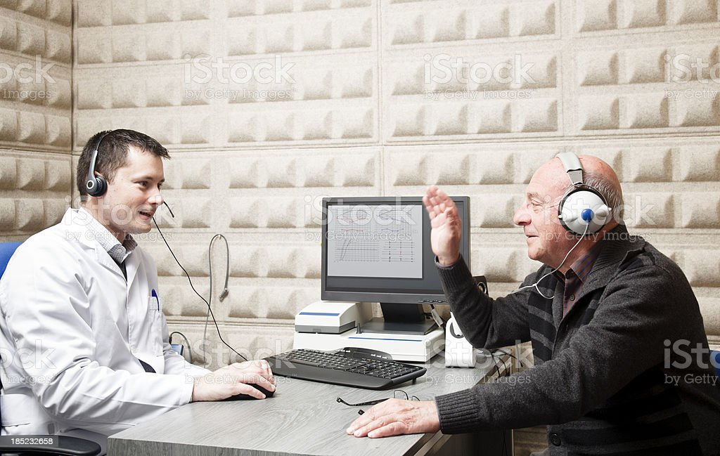 Hearing test stock photo