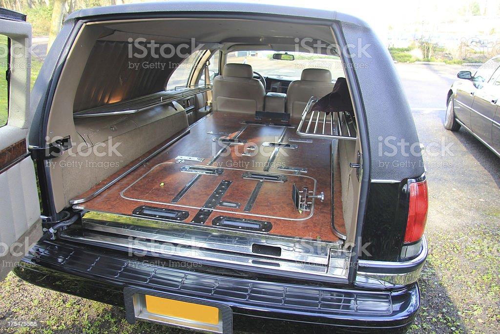 Hearse interior stock photo