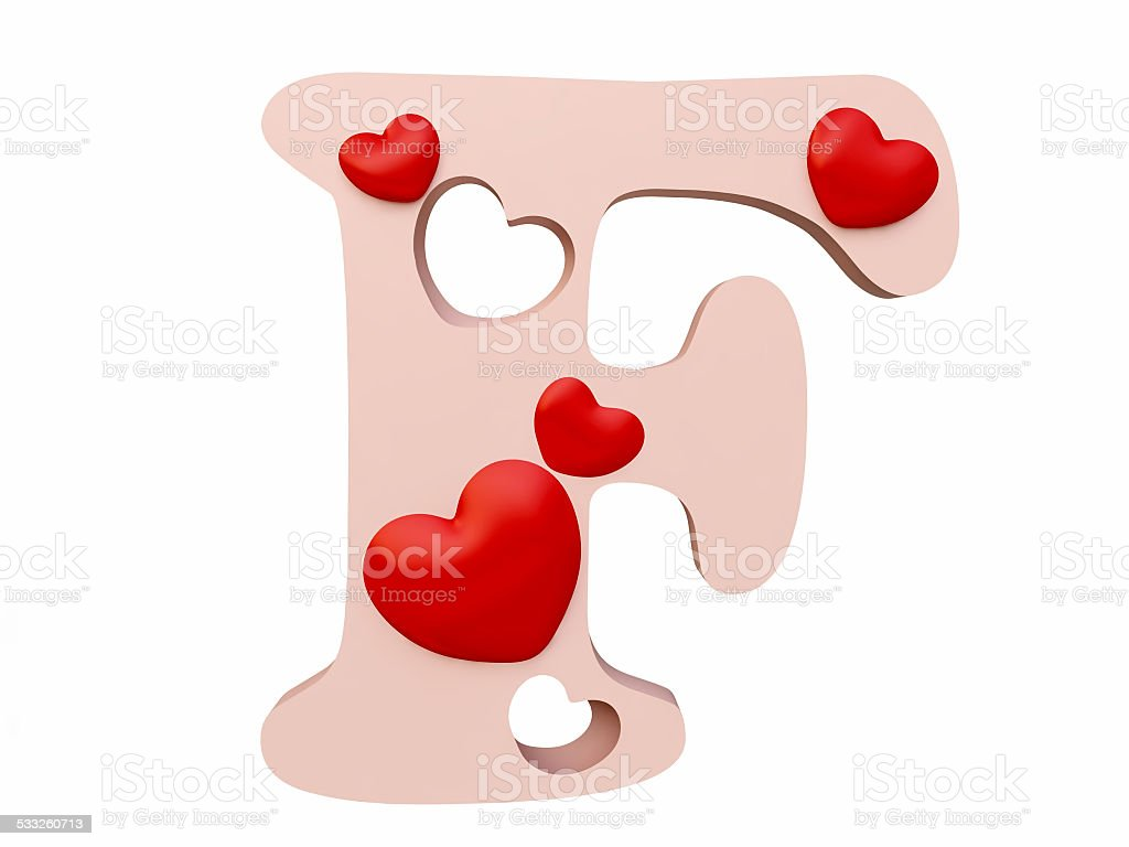Letter R S Valentine Alphabet Set With Heart Vector