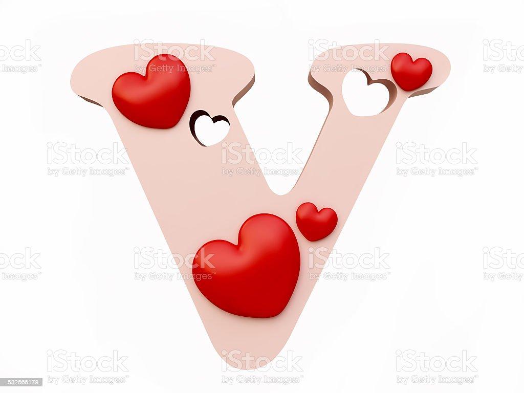 heart alphabet letter v stock photo 532666179 istock