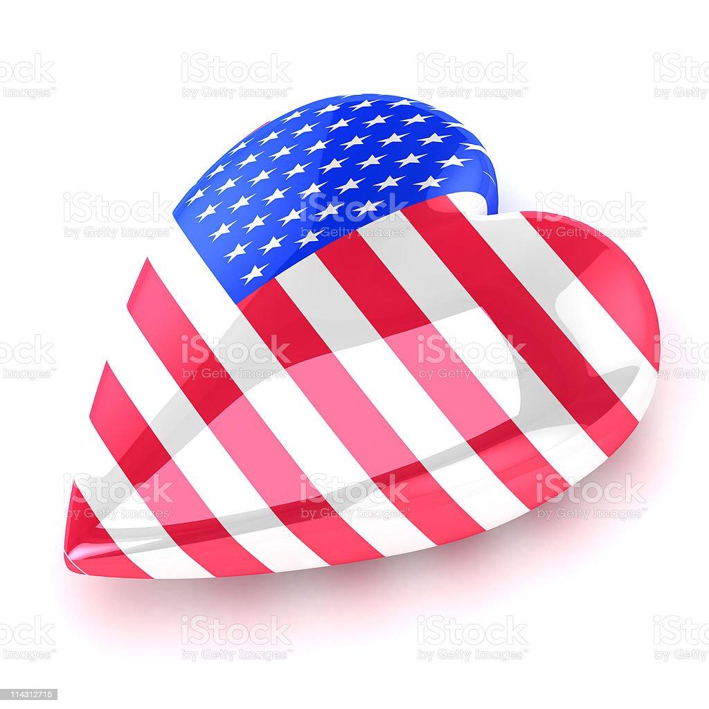 Heart America stock photo