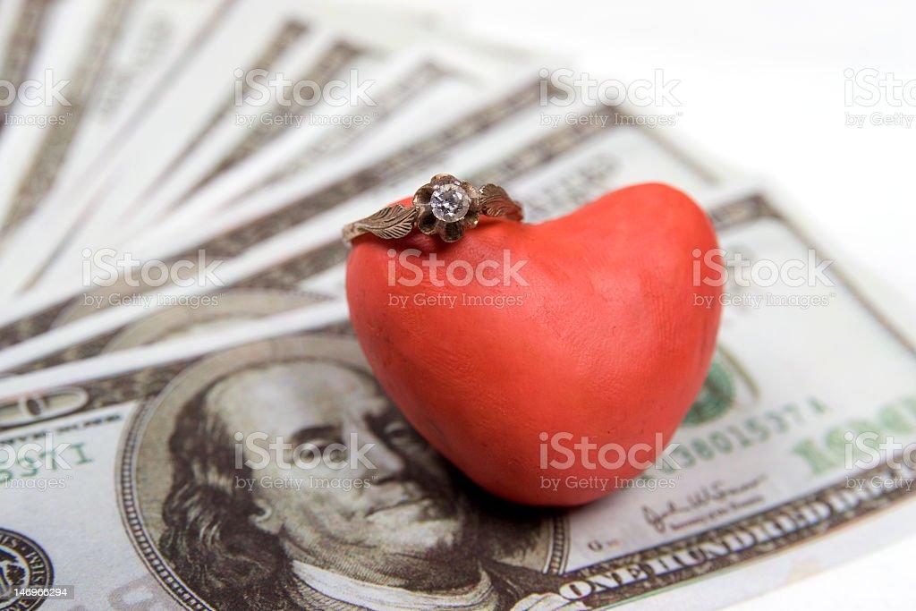 heart & money royalty-free stock photo