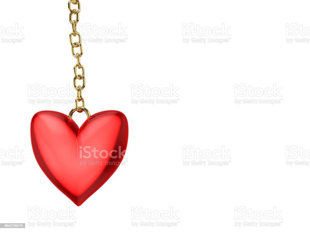 heart amulet stock photo