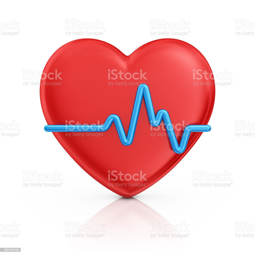 heart and cardiogram royalty-free stock photo