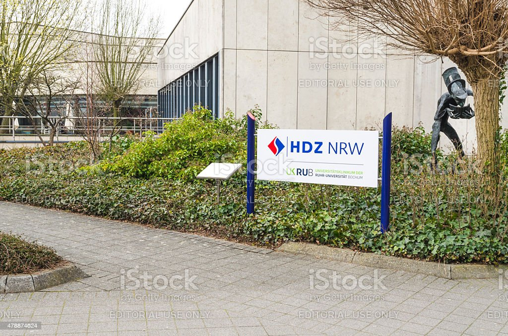 Heart and Diabetes Center North Rhine-Westphalia in Bad Oeynhaus stock photo
