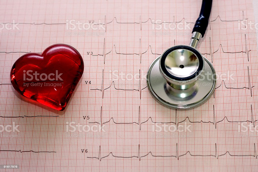 heart and electro stock photo