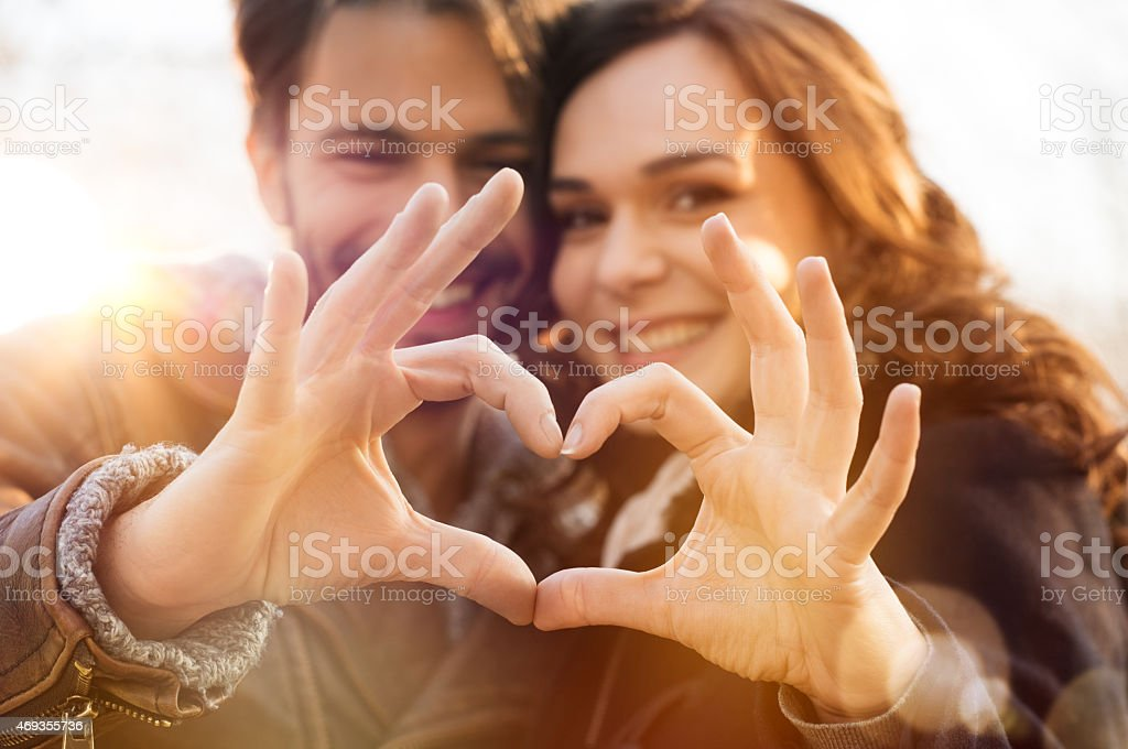 Heart and love stock photo