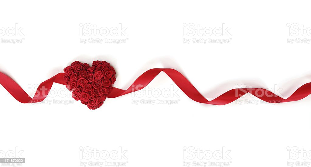 Heart and Ribbon royalty-free stock photo