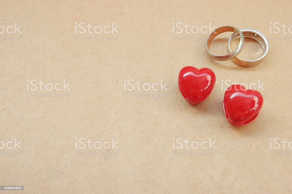 Heart and ring stock photo