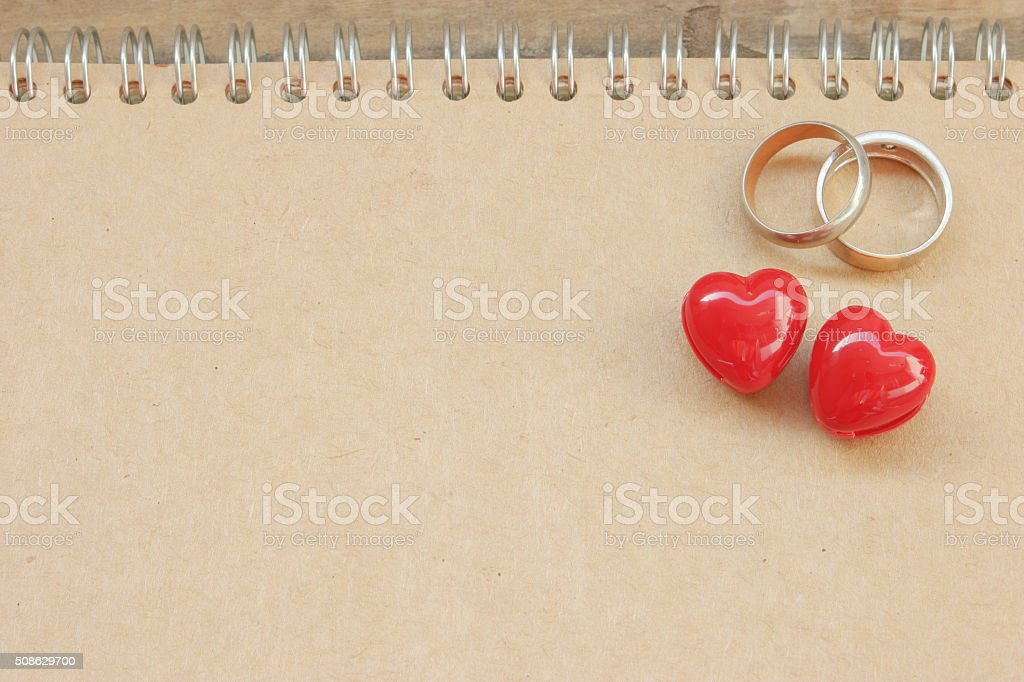 Heart and ring Valentine's day. stock photo