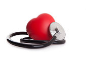 heart and stethoscope isolated