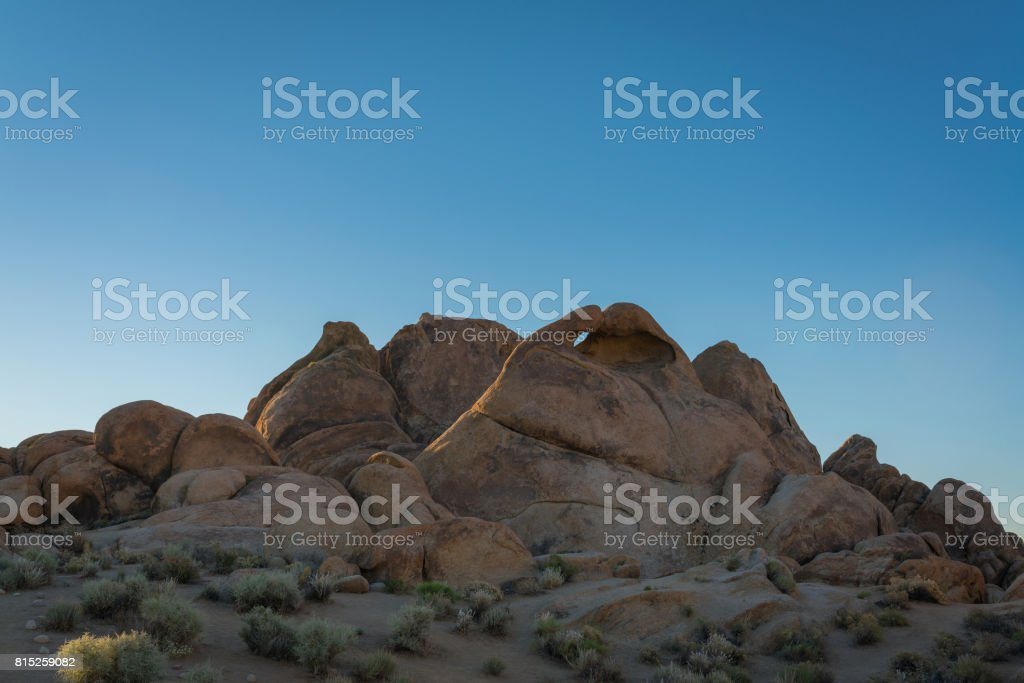 Heart Arch in Alabama Hills stock photo
