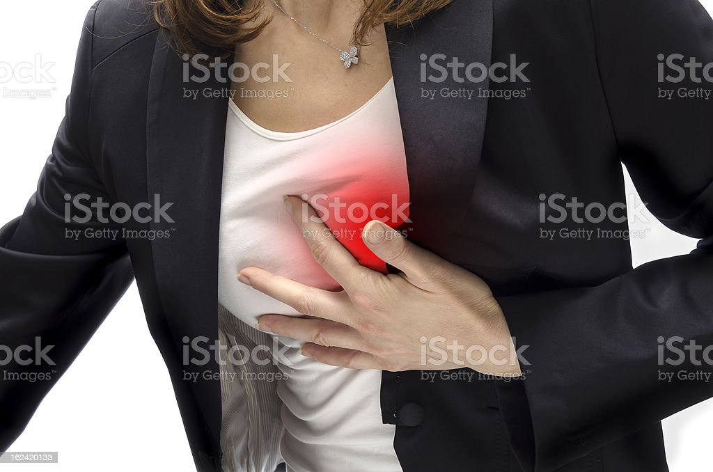 Heart attack royalty-free stock photo