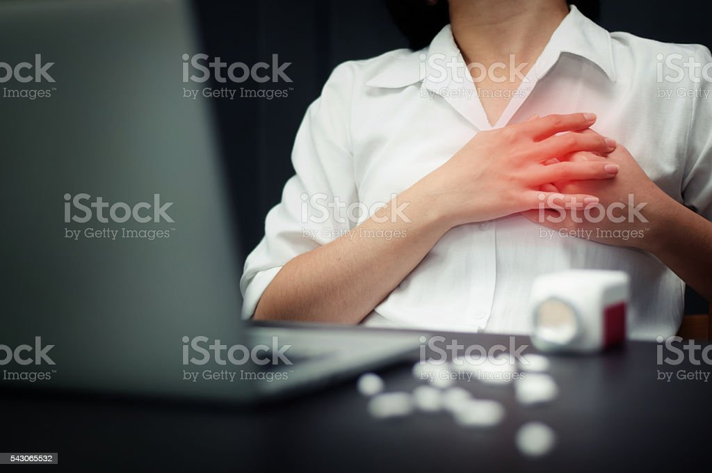 Heart attack. stock photo