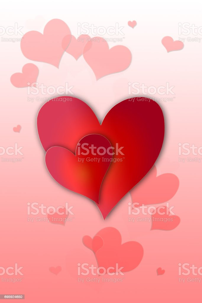 Heart background with ornate decoration stock photo