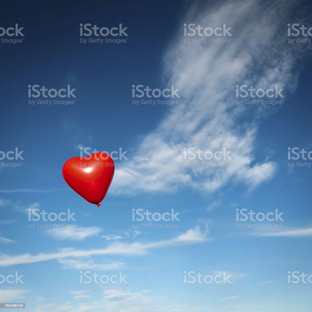 heart balloon royalty-free stock photo