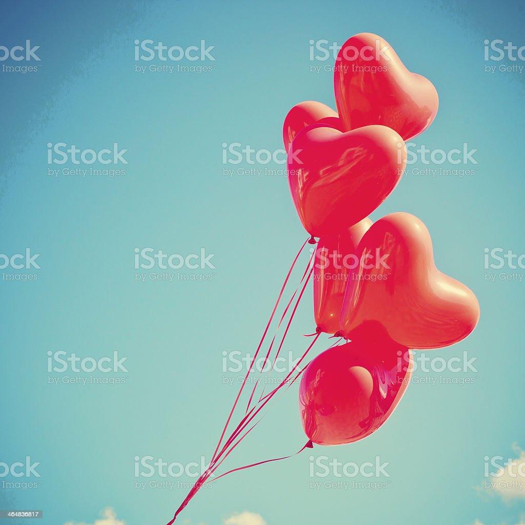Heart Balloons stock photo