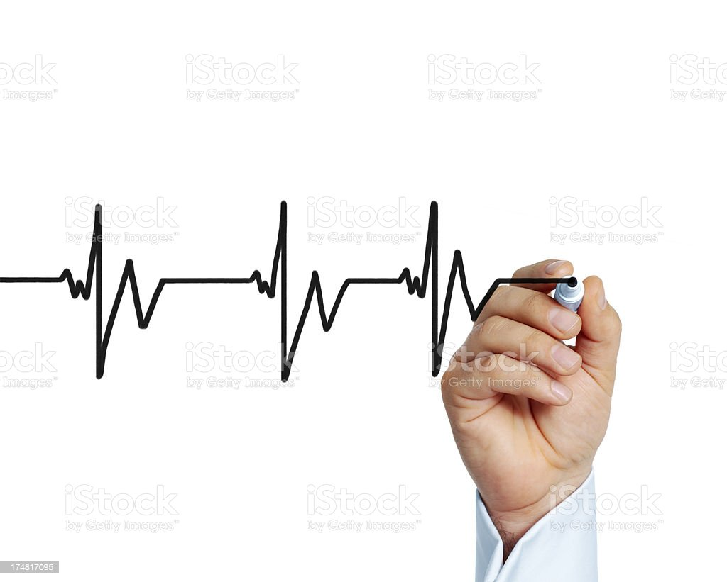 Heart beat graph royalty-free stock photo