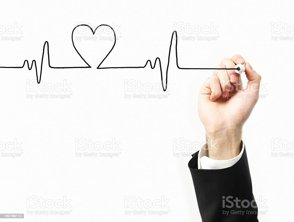 Heart Beat Graph stock photo