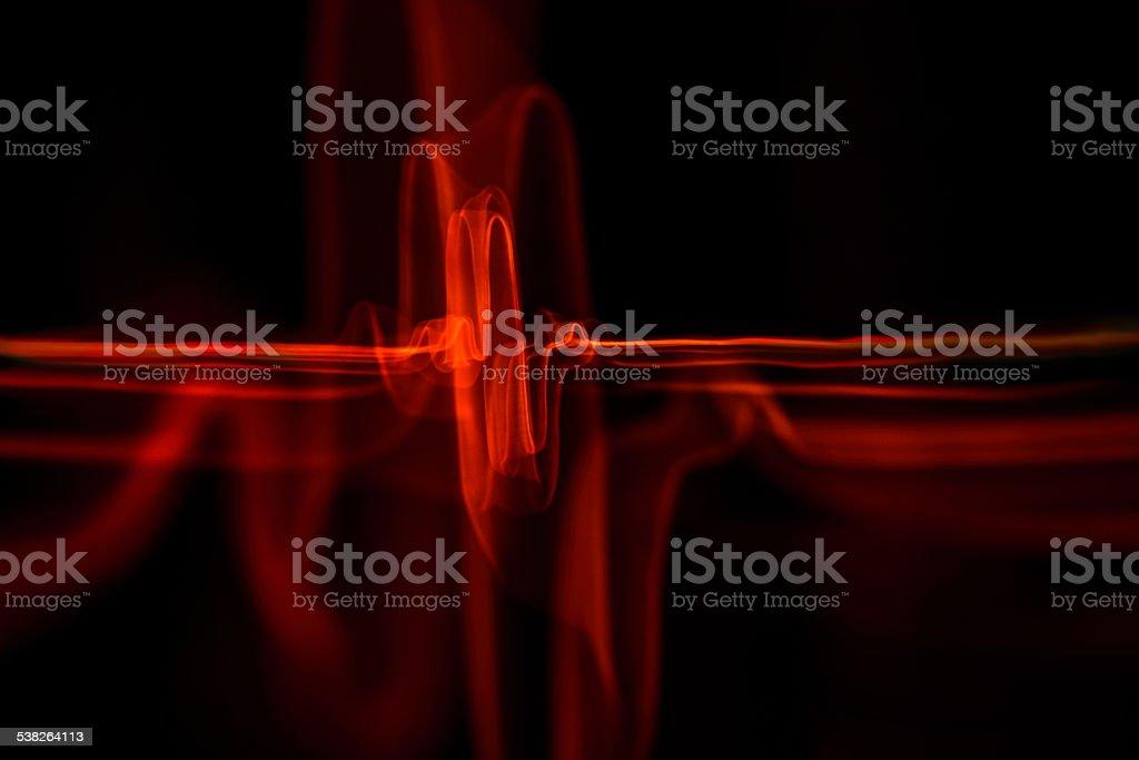 Heart beat light wave stock photo