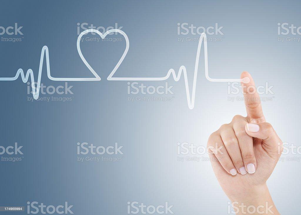 Heart beat royalty-free stock photo