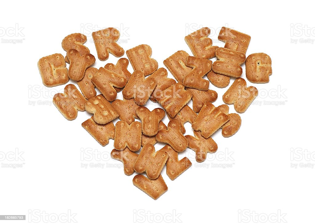 heart biscuits royalty-free stock photo