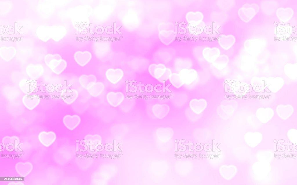 Heart bokeh background stock photo