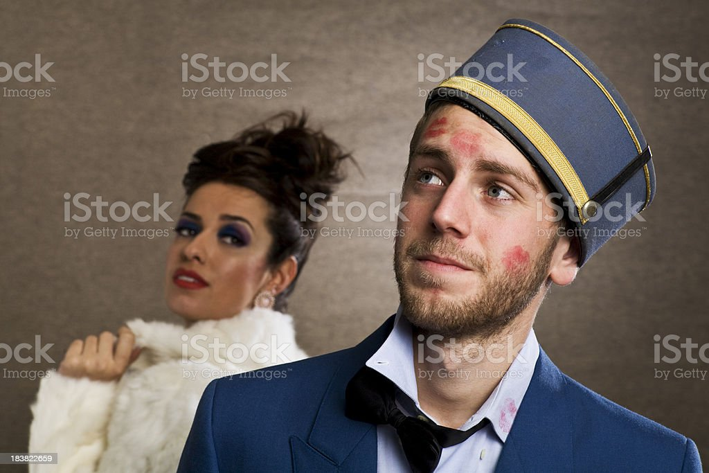 Heart breaker, bell boy in love with a costumer. royalty-free stock photo