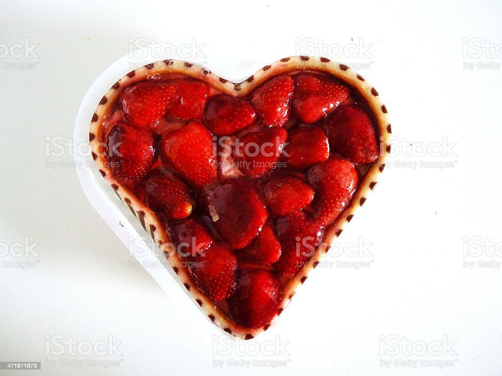 heart cake stock photo