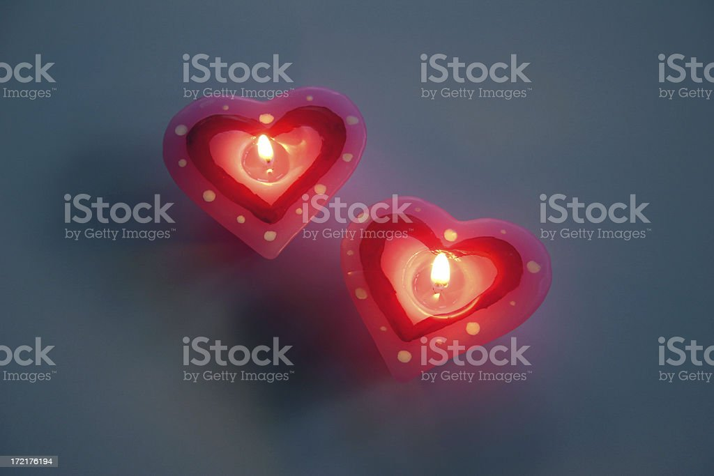 Heart Candles II royalty-free stock photo