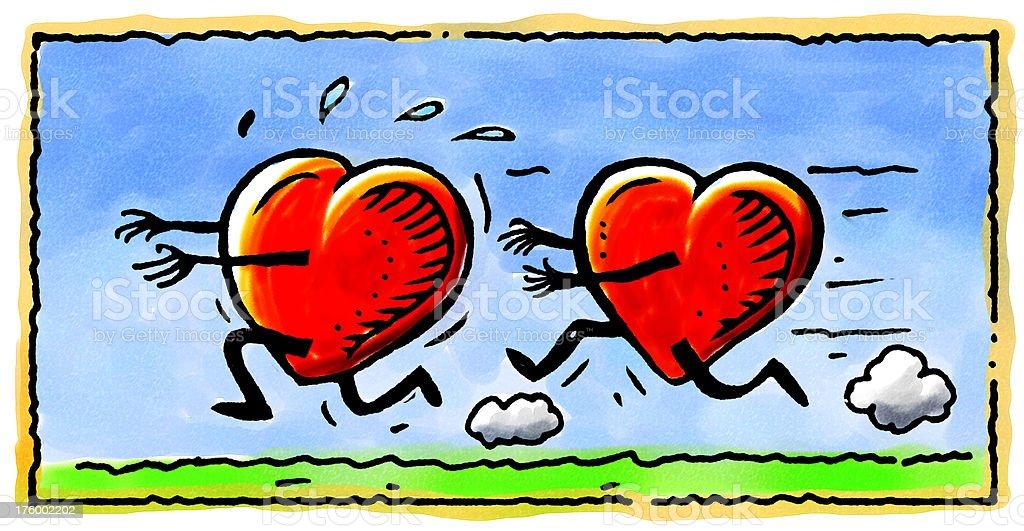 Heart Chase royalty-free stock photo