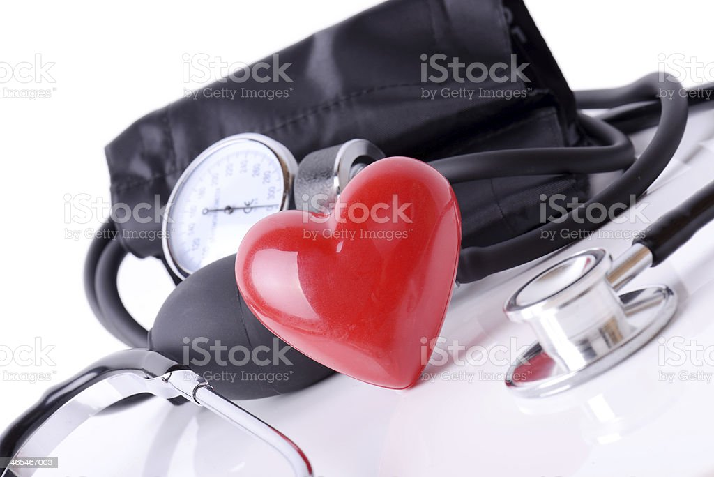 Heart check stock photo