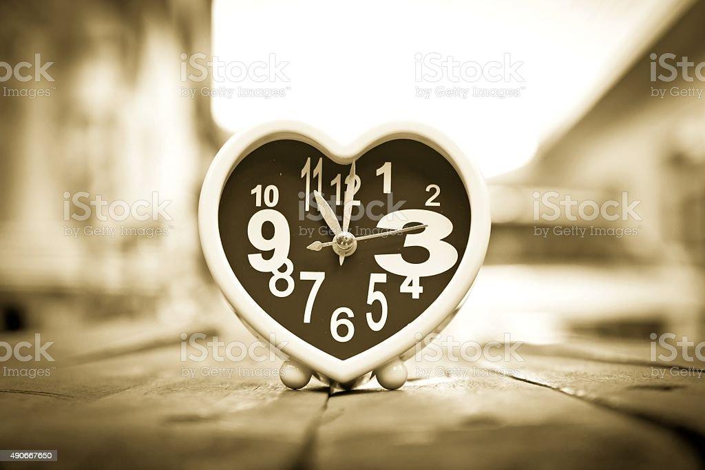 Heart clock stock photo