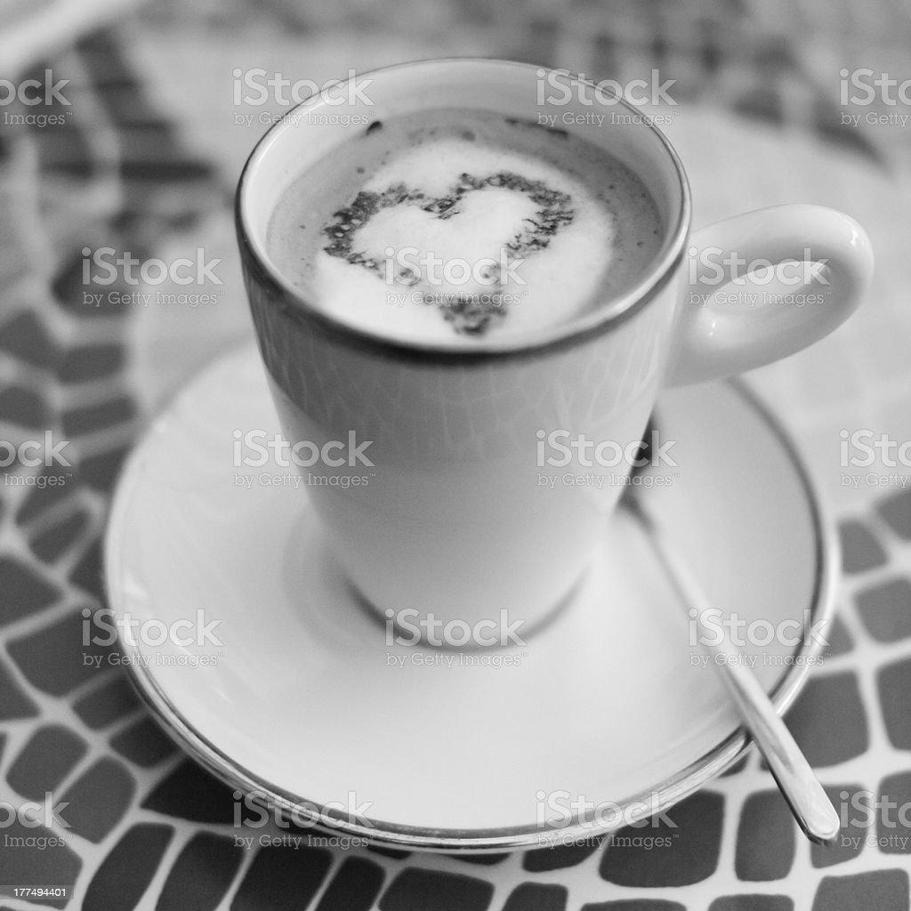 I Heart Coffee stock photo