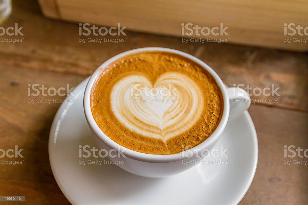 heart coffee-4 stock photo