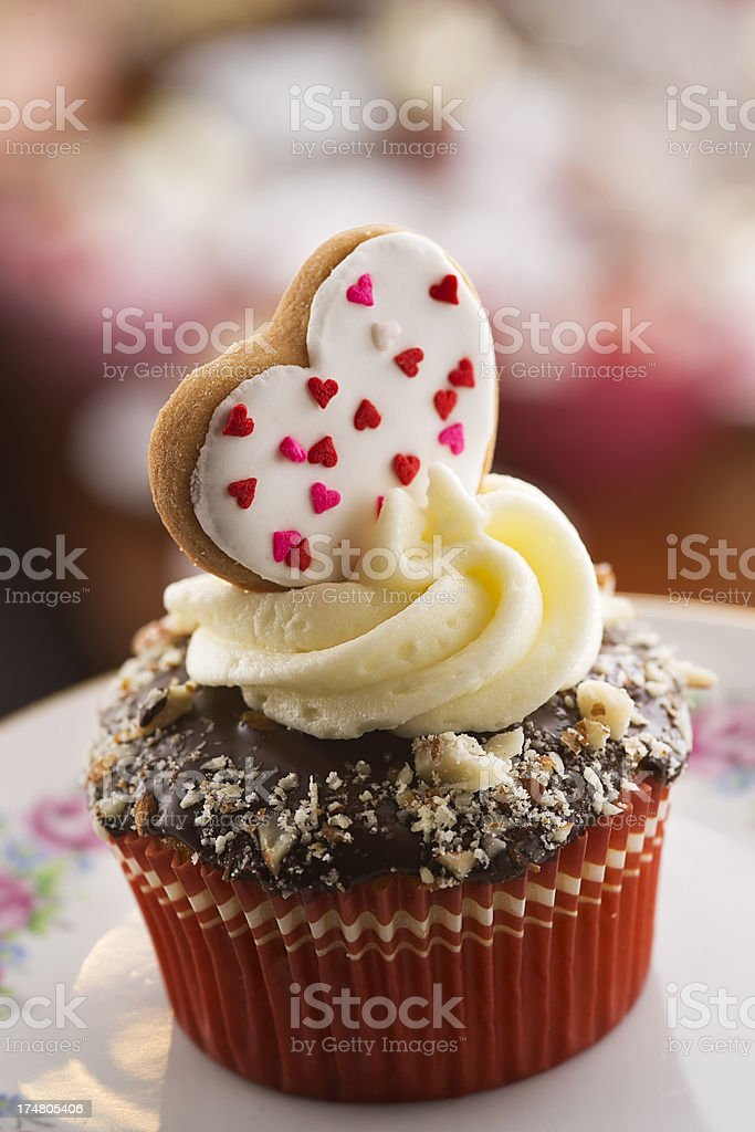 Heart Cookie Cupcake royalty-free stock photo